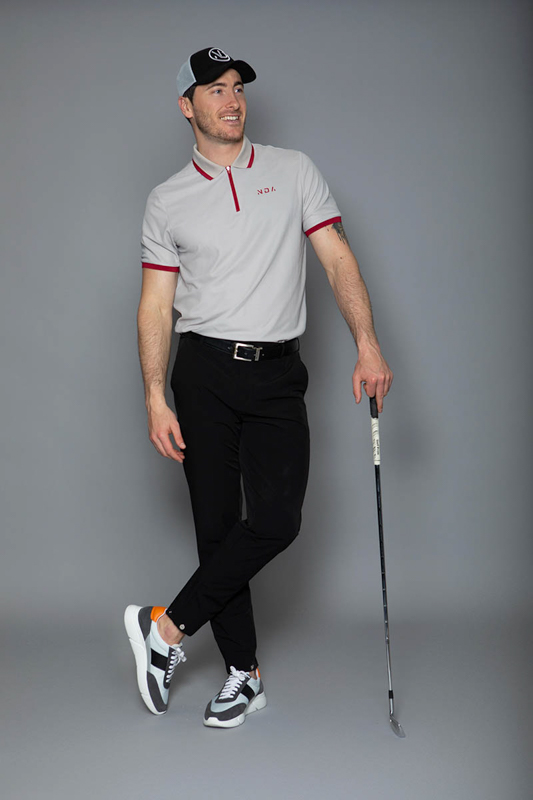 the-players-zip-polo-grey